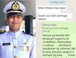 Ini Foto dan Pesan Terakhir Letda Rhesa Sigar ke Ibunya Sebelum Nanggala 402 Berlayar