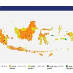 Update Covid-19 di Indonesia: Pulau Jawa Kembali Masuk Zona Merah, Mana Saja?