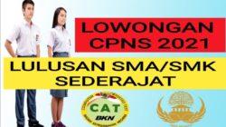 Update Daftar Formasi CPNS 2021 Lulusan SMA & SMK Terbaru